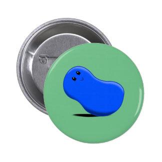 Blue Jellybean Button