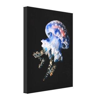 Blue Jellyfish Fine Art Canvas Print