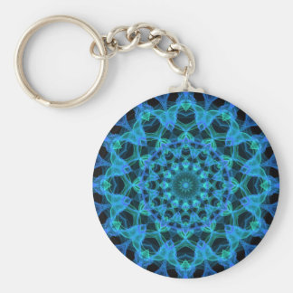 Blue Jellyfish Kaleidoscope Key Ring