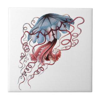 Blue jellyfish tile
