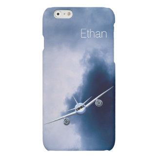 Blue Jet Plane in Sky Pilot Matte iPhone 6 Cases iPhone 6 Plus Case