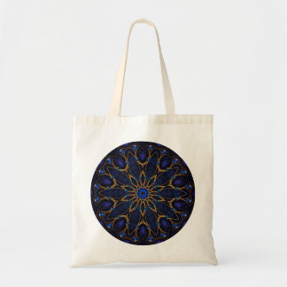 Blue Jewel Kaleidoscope Tote Bag