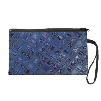 Blue Jewel Wristlet