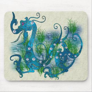 Blue Jeweled Dragon Mouse Pad