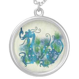 Blue Jeweled Dragon Custom Jewelry