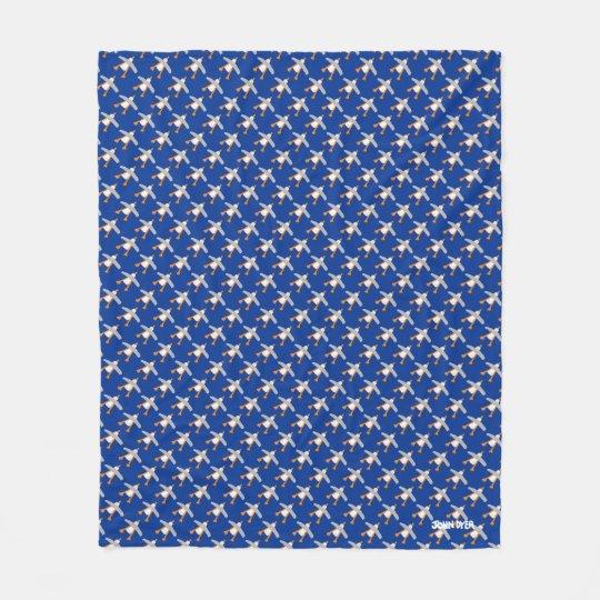 Blue John Dyer Seagull repeat Fleece Blanket