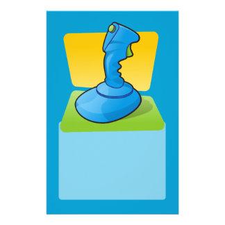 Blue Joystick 14 Cm X 21.5 Cm Flyer