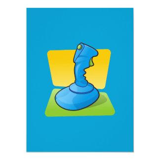 Blue Joystick 17 Cm X 22 Cm Invitation Card