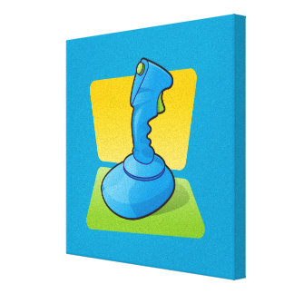 Blue Joystick Gallery Wrapped Canvas
