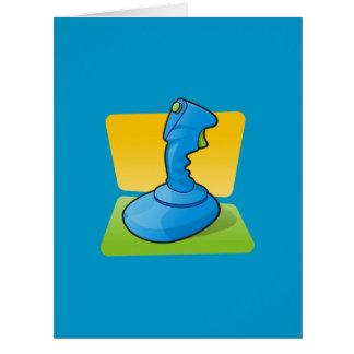 Blue Joystick Large Greeting Card