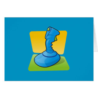 Blue Joystick Card