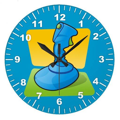 Blue Joystick Clock