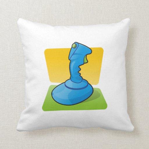 Blue Joystick Throw Pillow