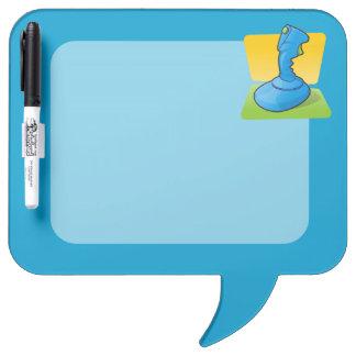 Blue Joystick Dry Erase White Board