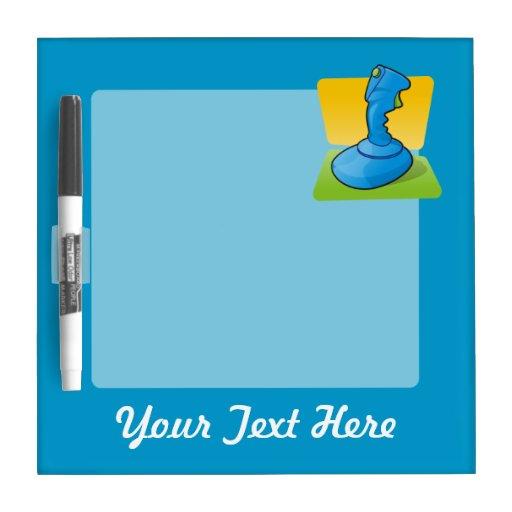 Blue Joystick Dry-Erase Boards