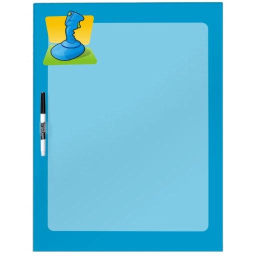 Blue Joystick Dry-Erase Board
