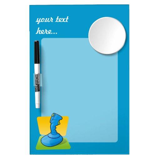Blue Joystick Dry-Erase Whiteboards