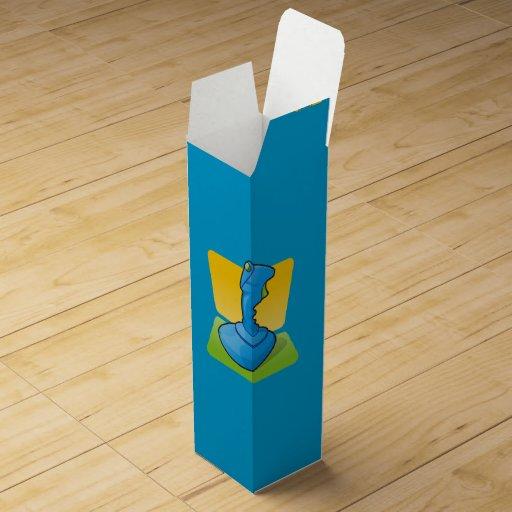 Blue Joystick Wine Bottle Box