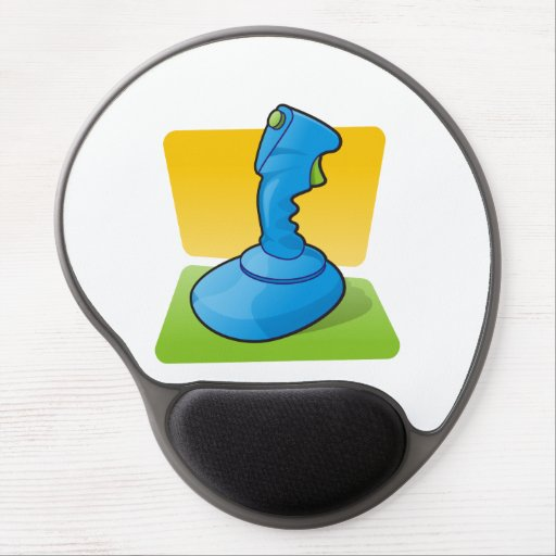 Blue Joystick Gel Mouse Mats