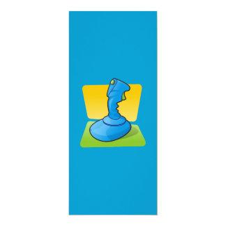 Blue Joystick 4x9.25 Paper Invitation Card