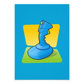 Blue Joystick 4.5x6.25 Paper Invitation Card