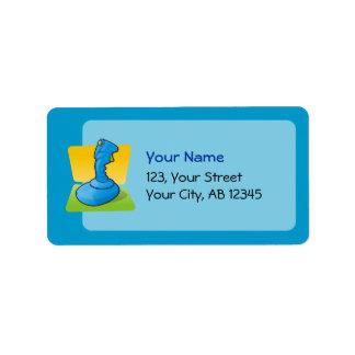 Blue Joystick Address Label