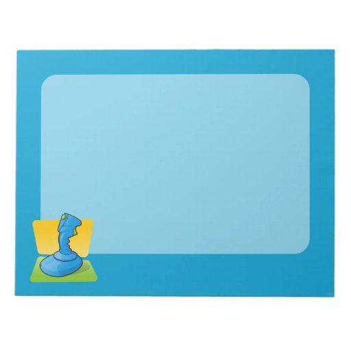 Blue Joystick Scratch Pads