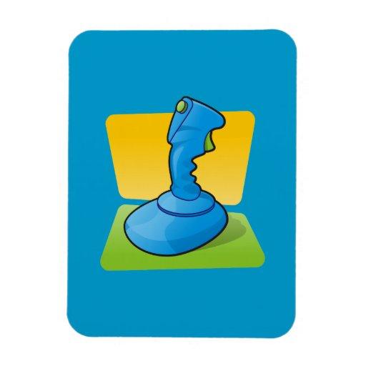 Blue Joystick Rectangular Magnets