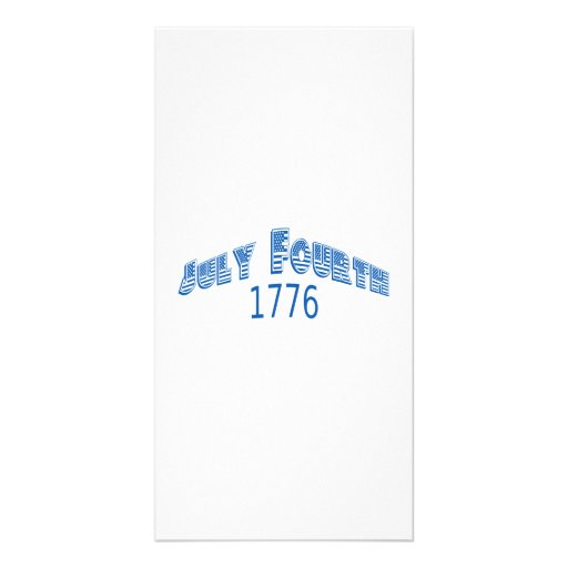 Blue July Fouth 1776 Photo Greeting Card