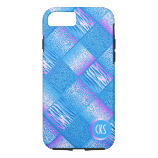 Blue Jungle Animal Prints | Monogram iPhone 7 Case