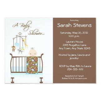 Blue Jungle Nursery Baby Shower Invitations