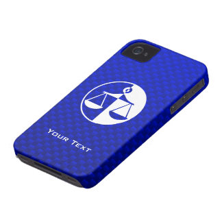 Blue Justice Scales iPhone 4 Case-Mate Case