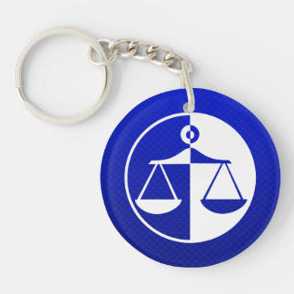 Blue Justice Scales Acrylic Keychains