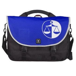 Blue Justice Scales Laptop Commuter Bag