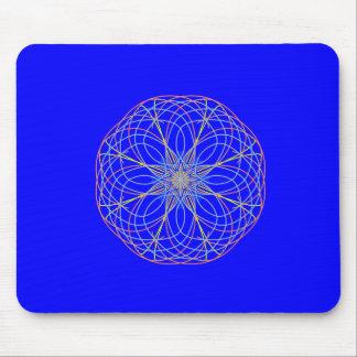 Blue Kaleidoscope Art Mouse Mat