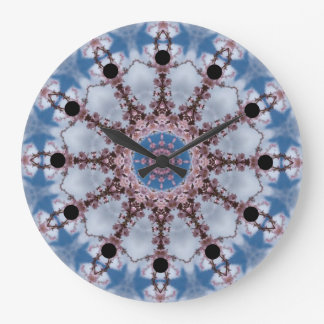 Blue Kaleidoscope Clock
