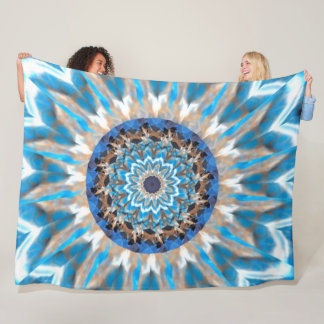 Blue Kaleidoscope Fleece Blanket