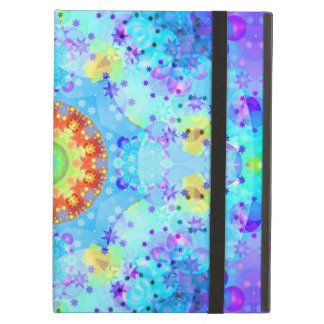 Blue Kaleidoscope Fractal Cover For iPad Air