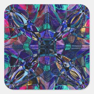 Blue Kaleidoscope Fractal Stickers