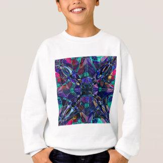 Blue Kaleidoscope Fractal Sweatshirt