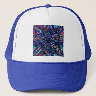Blue Kaleidoscope Fractal Trucker Hat