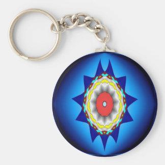 Blue Kaleidoscope  Keychain