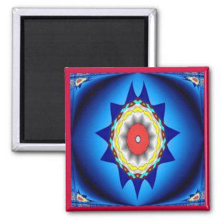 Blue Kaleidoscope Magnet