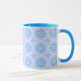 Blue Kaleidoscope Pattern Mug