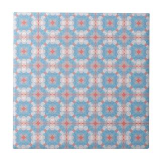 Blue Kaleidoscope Pattern Tile