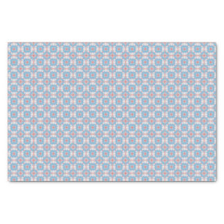 Blue Kaleidoscope Pattern Tissue Paper