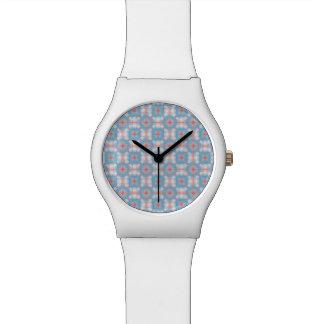 Blue Kaleidoscope Pattern Wrist Watches