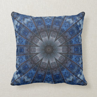 Blue Kaleidoscope Throw Pillow