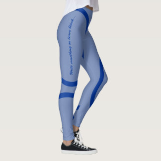 Blue kamon circle leggings