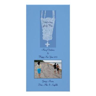 Blue Kandili Personalized Photo Card